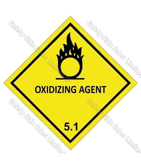Cyoclass 51 Oxidizing Agent Dangerous Goods Sign Comply Systems Ltd