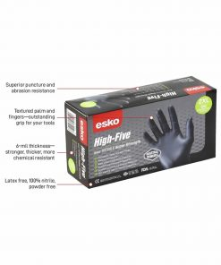 MDNHD HighFive Black Nitrile Gloves