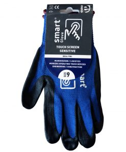 SMART GLOVE® Black Foam Nitrile on Polyamide with Touchscreen Fingertips 7-11