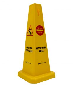 Floor Cone 'CAUTION WET FLOOR/RESTRICTED AREA'