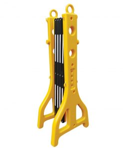Plastic Extendable Barricade - Yellow and Black