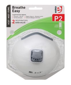 ESKO - P2 Respirator with Valve Blister Pack 2 masks/pack