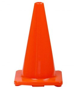Orange PVC Plain Cone 450mm