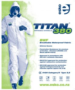 BioHazard Type 5&6 Asbestos & Water Resistant Coverall
