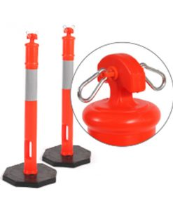 Orange PVC Reflectorised Bollard