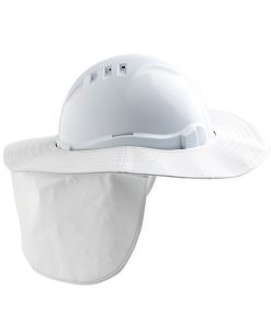 Hard Hat Brim with neck flap WHITE