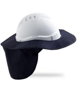 Hard Hat Brim with neck flap NAVY BLUE
