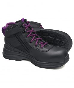 Blundstone Women's Safety Boots - Style 887 - Black and Purple