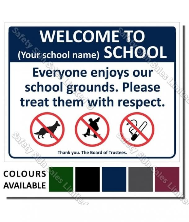 CYO|A03 – Welcome To Our School Sign
