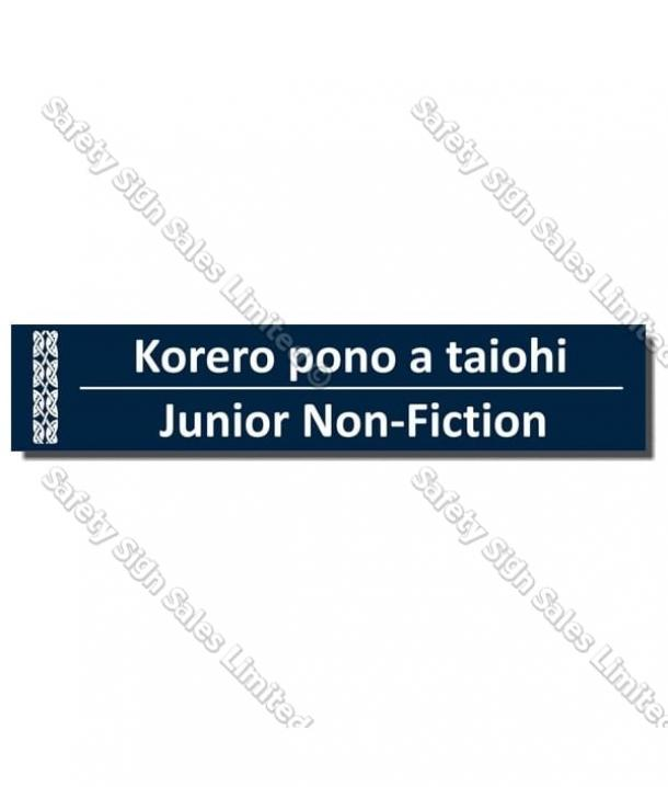 CYO|BIL Junior Non-Fiction – Bilingual Library Sign