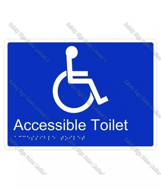 CYO BR01 – Accessible Toilet Braille Sign 220 x 160mm