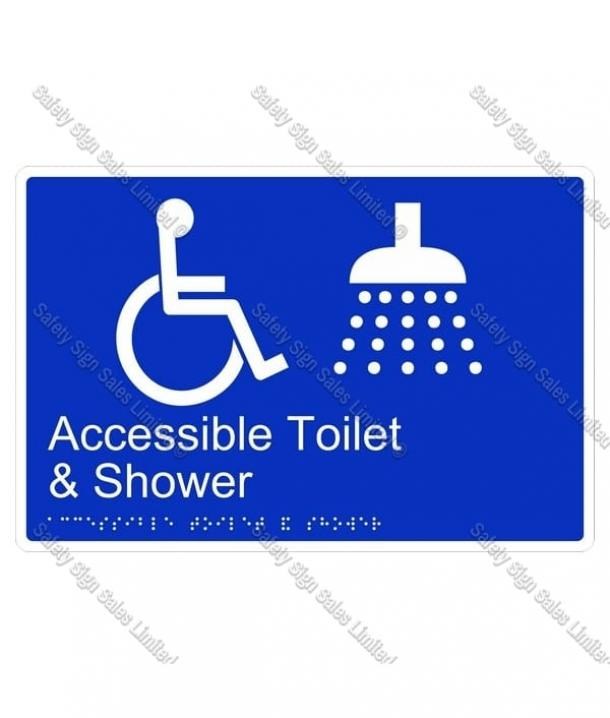 CYO|BR02 – Accessible Toilet & Shower Braille Sign 270 x 180mm