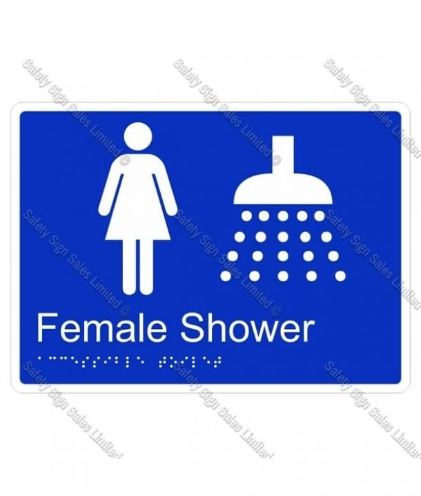 CYO|BR04 – Female Shower Braille Sign 220 x 160mm