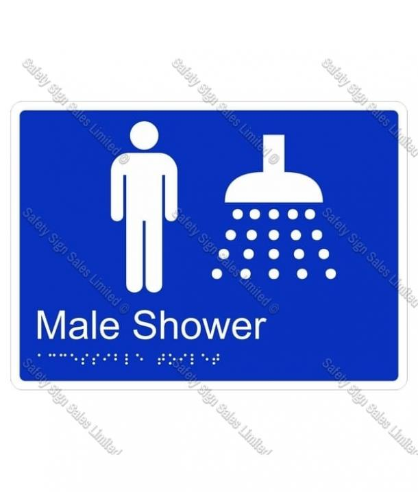 CYO|BR07 – Male Shower Braille Sign 220 x 160mm