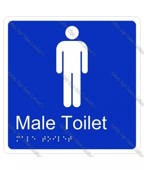 CYO|BR08 – Male Toilet Braille Sign 160 x 160mm