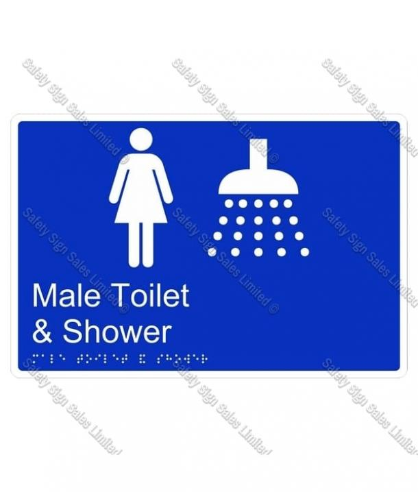 CYO|BR09 – Male Toilet & Shower Braille Sign 270 x 180mm