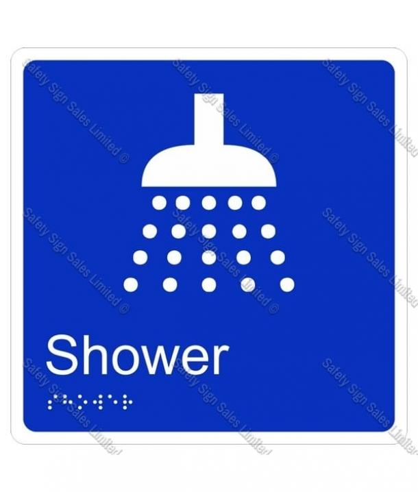 CYO|BR10 – Shower Braille Sign 160 x 160mm