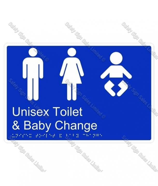 CYO|BR12 – Unisex Toilet & Baby Change Braille Sign 270 x 180mm