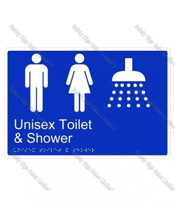 CYO|BR13 – Unisex Toilet & Shower Braille Sign 270 x 180mm