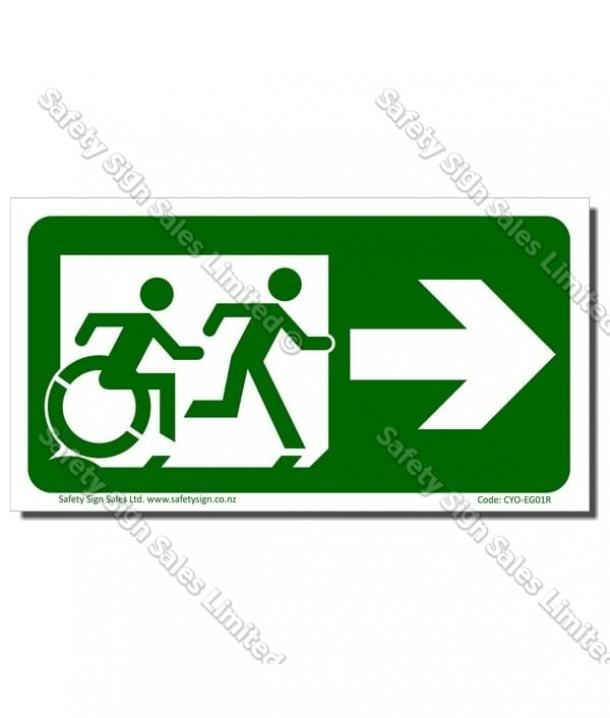 CYO|EG01R – Accessible Exit with RIGHT Arrow