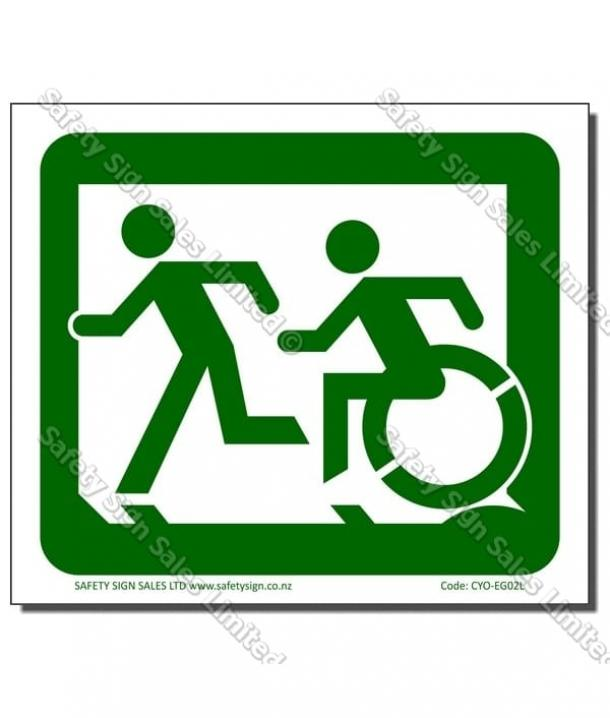 CYO|EG02L – Accessible Exit Sign LEFT