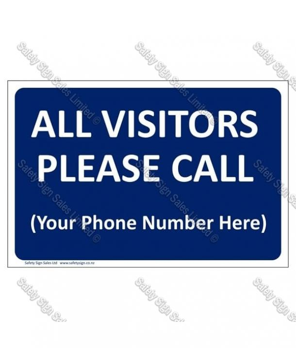 CYO GA304 – All Visitors Please Call (with Phone Number)