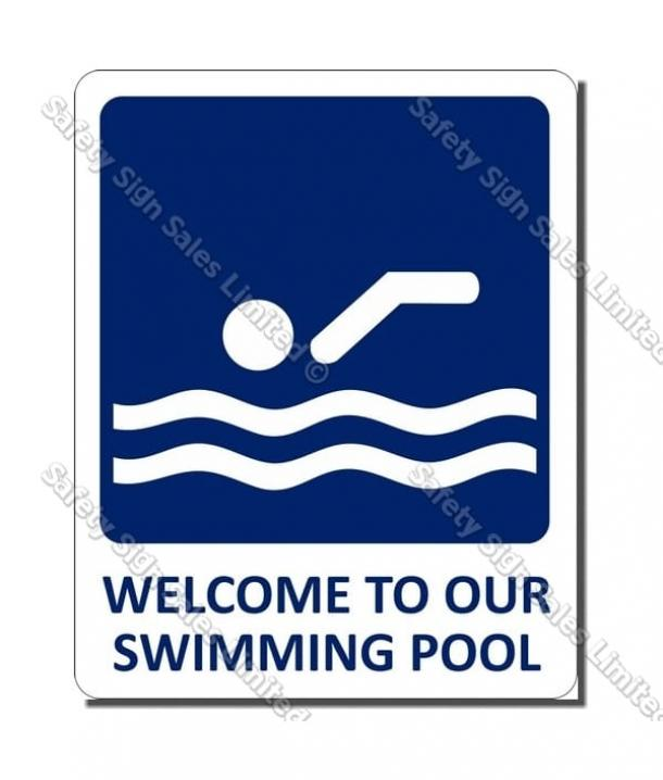 CYO|SP03 – Welcome To Our Pool Sign (Small)