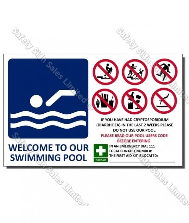 CYO|SP04 – Welcome To Our Pool Sign
