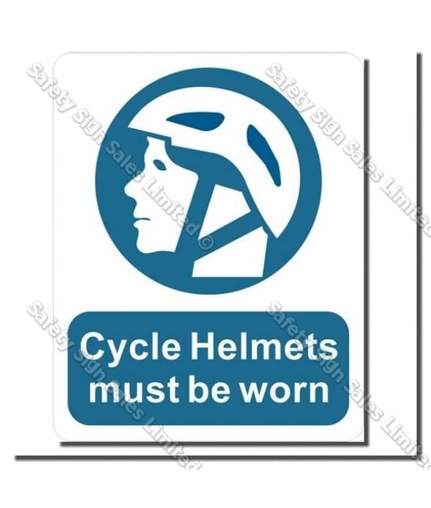 MA66 – Cycle Helmets Must be Worn Sign