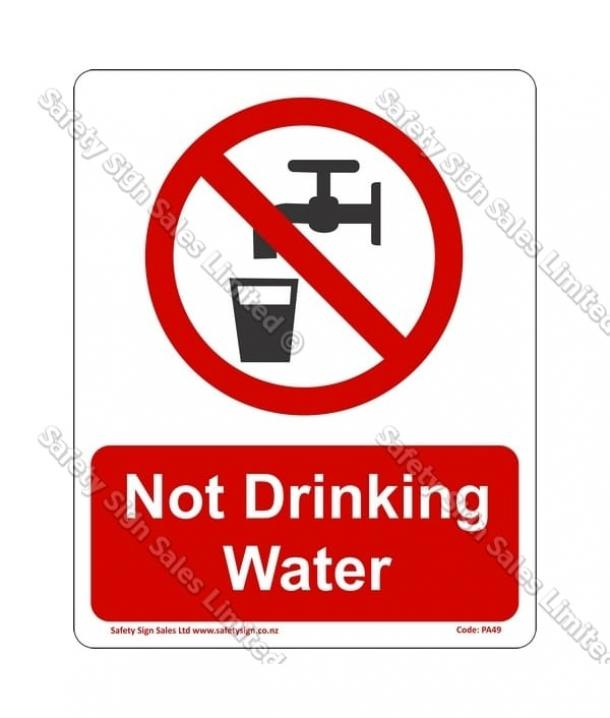 PA49 – Not Drinking Water Sign