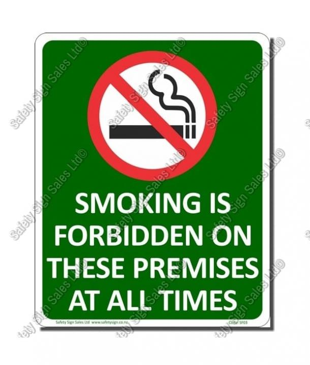 SF03 – Smokefree Premises Sign