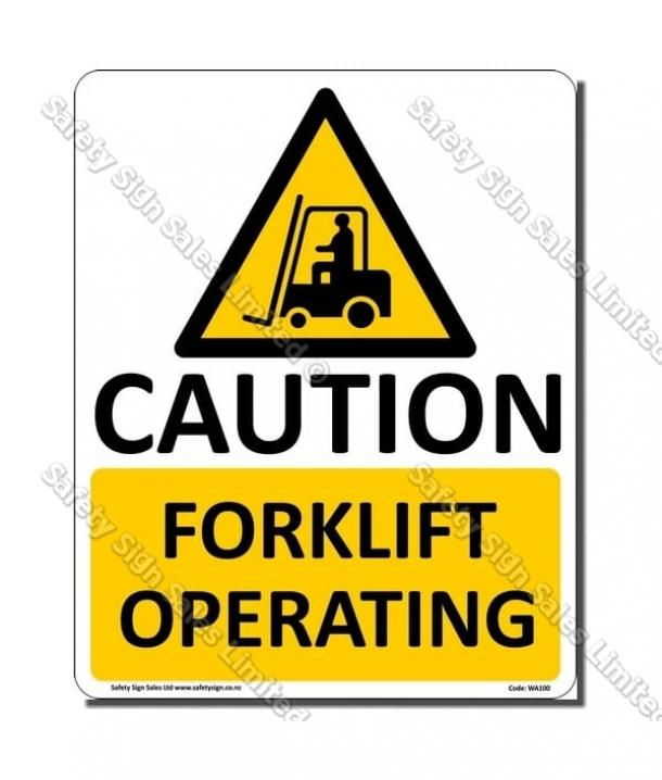 WA100 – Forklift Operating Sign