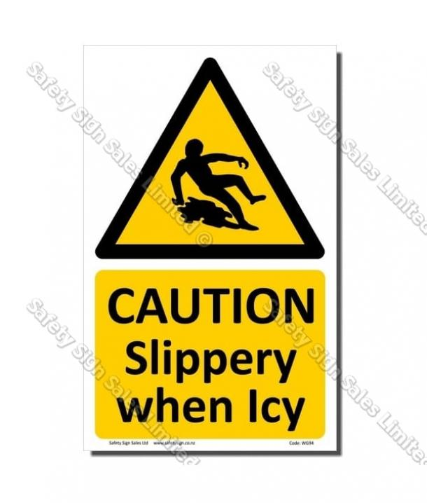 WG94 – Slippery When Icy Sign