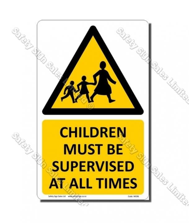 WG96 – Children Must Be Supervised At All Times Sign