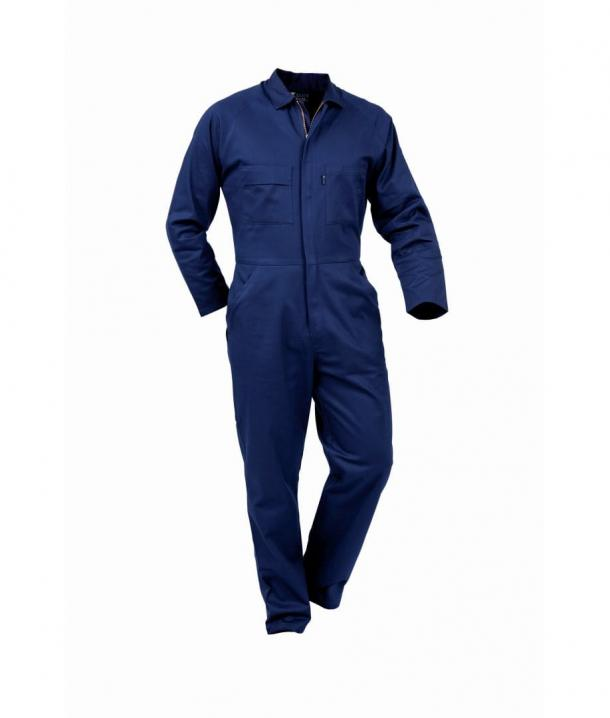 250gsm 100% Cotton Zipped Overall Long Sleeve - Zipped Front