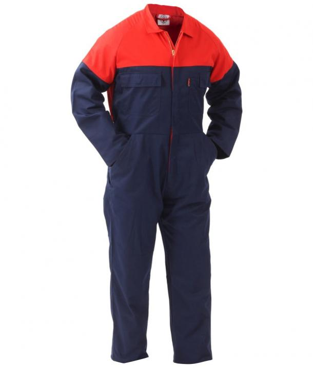 TWZ Contrast 270gsm Polycotton Long Sleeve Zip Overall