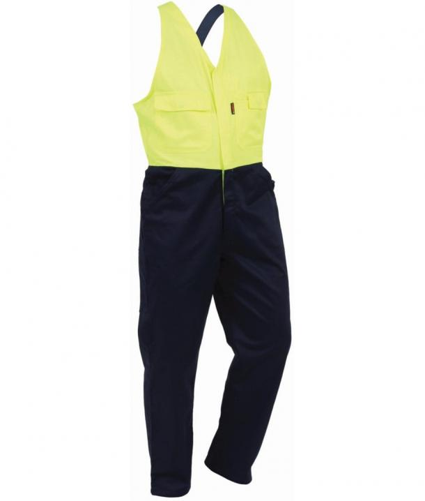TWZ 300gsm 100%Cotton Comfort Contrast Domed Overall