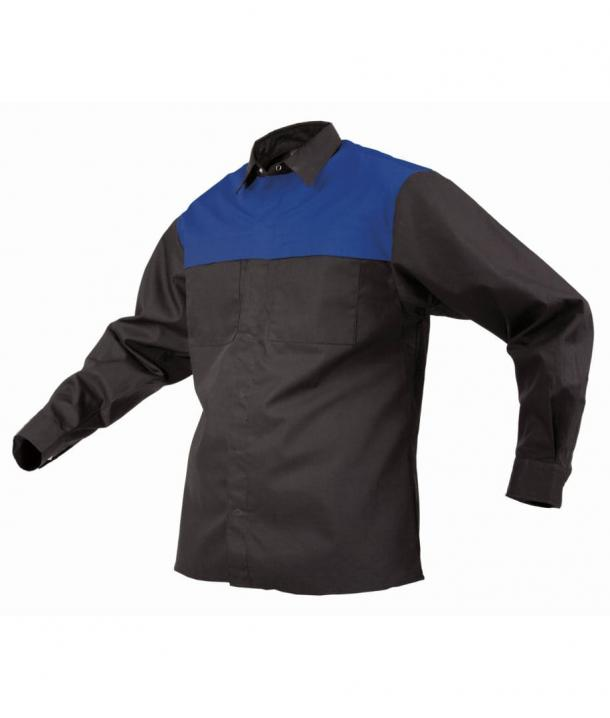 TWZ 170gsm Polycotton Contrast Long Sleeve Shirt