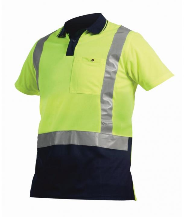 Argyle Day/Night 100% Polyester Microfibre Hi Vis Polo