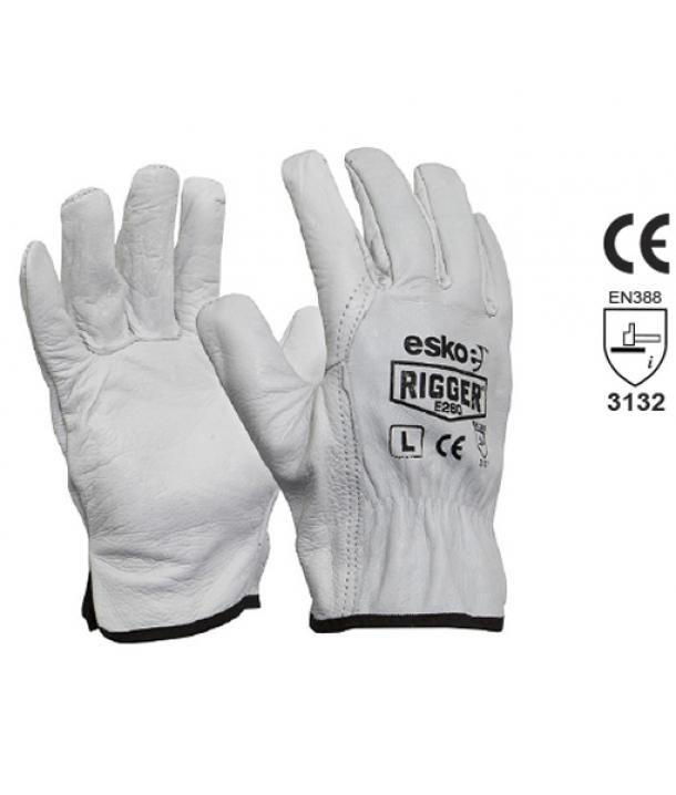 Premium Natural Cow grain rigger gloves Size 4XL